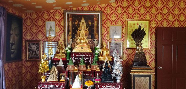 ตกแต่งห้องพระสวยๆ ด้วยวอลเปเปอร์ลายไทย โดย ร้าน NB ม่านสวย @ สุขุมวิท 50