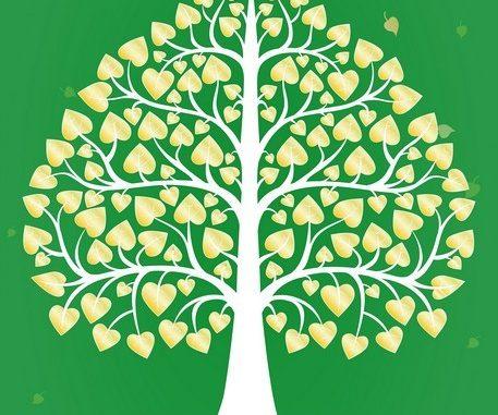 วอลเปเปอร์ภาพวิวลายต้นโพธิ์ สีเขียว รหัส THAI-36