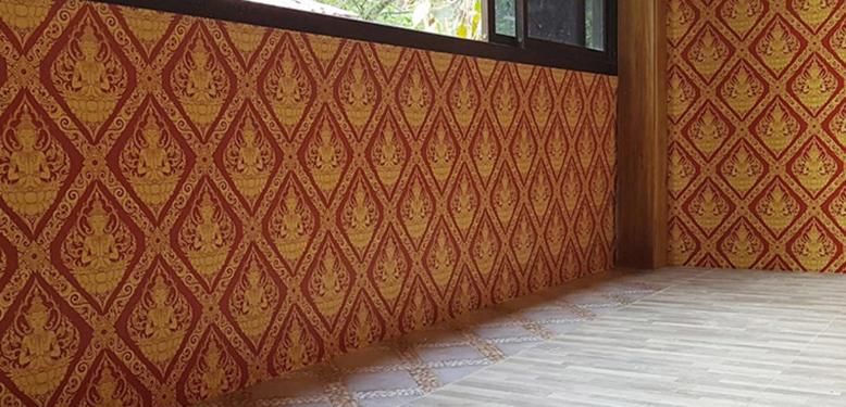 wallpaper ลายไทย สวยๆ ตกแต่งผนัง โดย ร้าน พรรณี วอลล์เปเปอร์