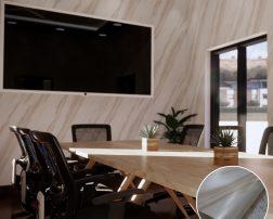 ตกแต่งห้องประชุมหรือห้องทำงานด้วยวอลเปเปอร์ลายหินอ่อน