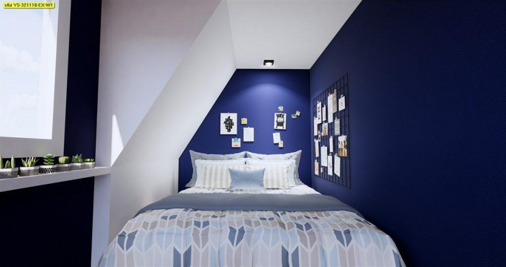 วอลเปเปอร์ลายเรียบสีน้ำเงิน-03