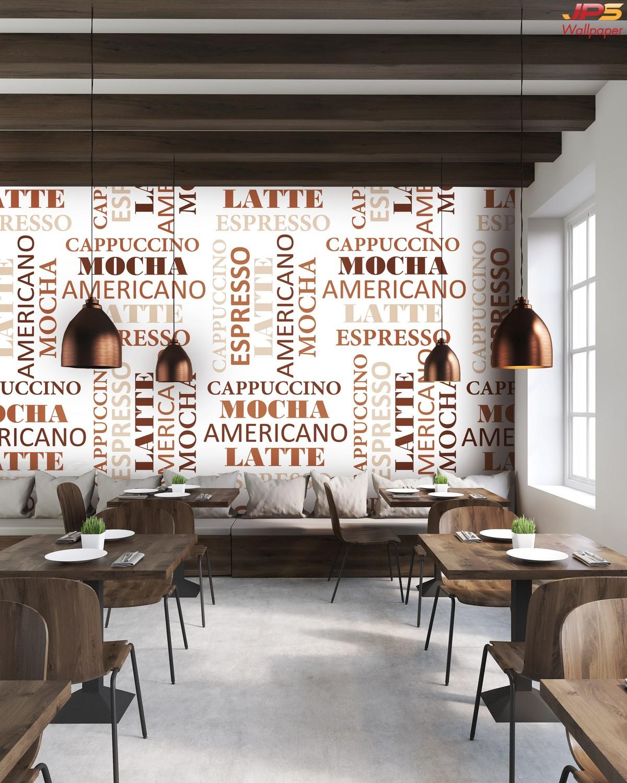 วอลเปเปอร์ลายห้องอาหาร วอลเปเปอร์ร้านกาแฟ ตกแต่งร้านอาหารและร้านกาแฟ