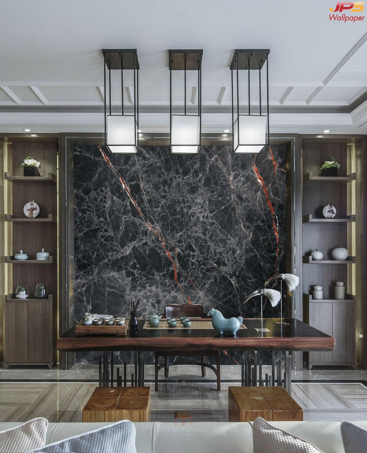 วอลเปเปอร์ลายโมเดิร์น แต่งห้องอาหารสไตล์โมเดิร์น Modern luxury style