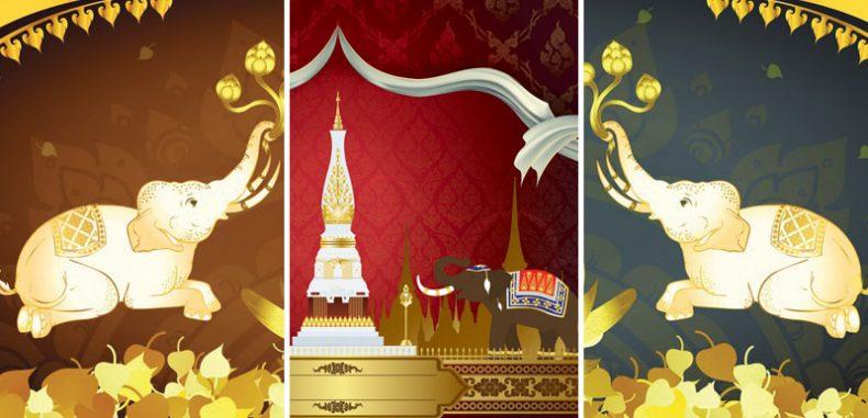 ไอเดียแต่งห้องพระสวย วอลเปเปอร์สั่งพิมพ์ลายช้างไทย ช้างไทยห้องพระ