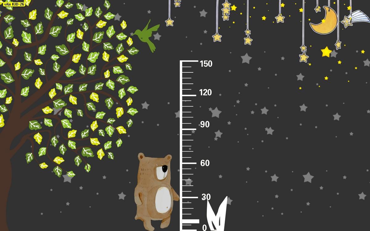 วอลเปเปอร์วัดส่วนสูง ลายหมี