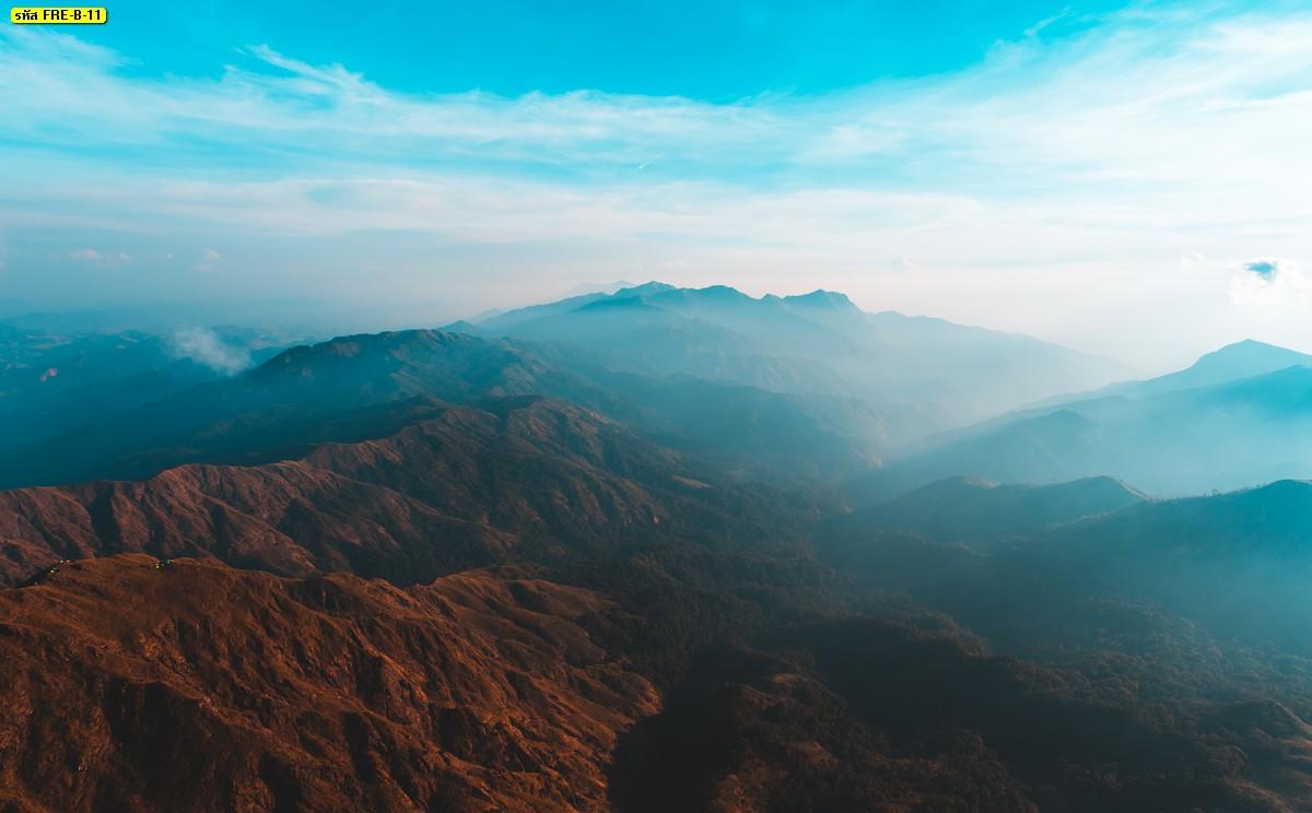 วอลเปเปอร์ติดผนังวิวลายหมอกขาวบนภูเขา