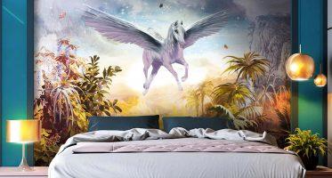 ตกแต่งห้องง่ายๆ ด้วยการเลือกติดภาพสวยๆ บนผนังพื้นหลังหัวเตียง