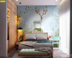 แบ่งสัดส่วนพื้นที่ห้องนอนอย่างลงตัว พร้อมกับตกแต่งผนังหัวเตียงสวยๆ