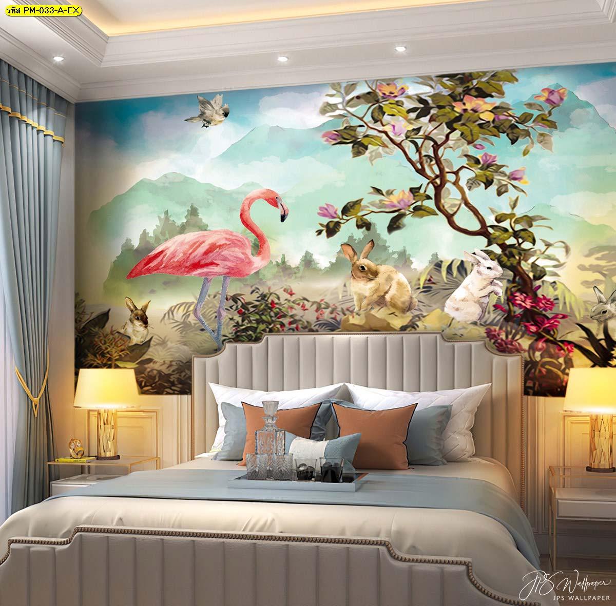 ผ่อนคลาย และให้ความสดใสในห้องนอนไปกับความธรรมชาติของสวนป่า