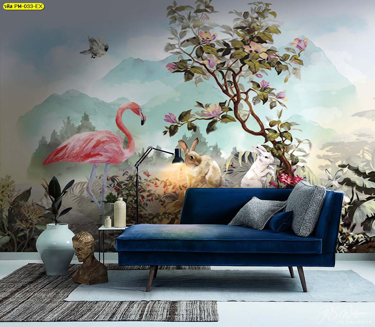 สีฟ้า เป็นสีที่สร้างความผ่อนคลายสบายใจ เหมาะนำมาแต่งห้องนั่งเล่นเป็นที่สุด