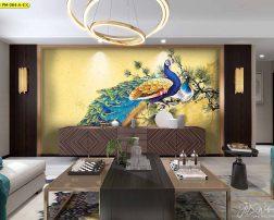 นกยูงทางฮวงจุ้ยจะส่งเสริมทางด้านโชค อำนาจ ติดตั้งในห้องรับแขกจะดียิ่ง