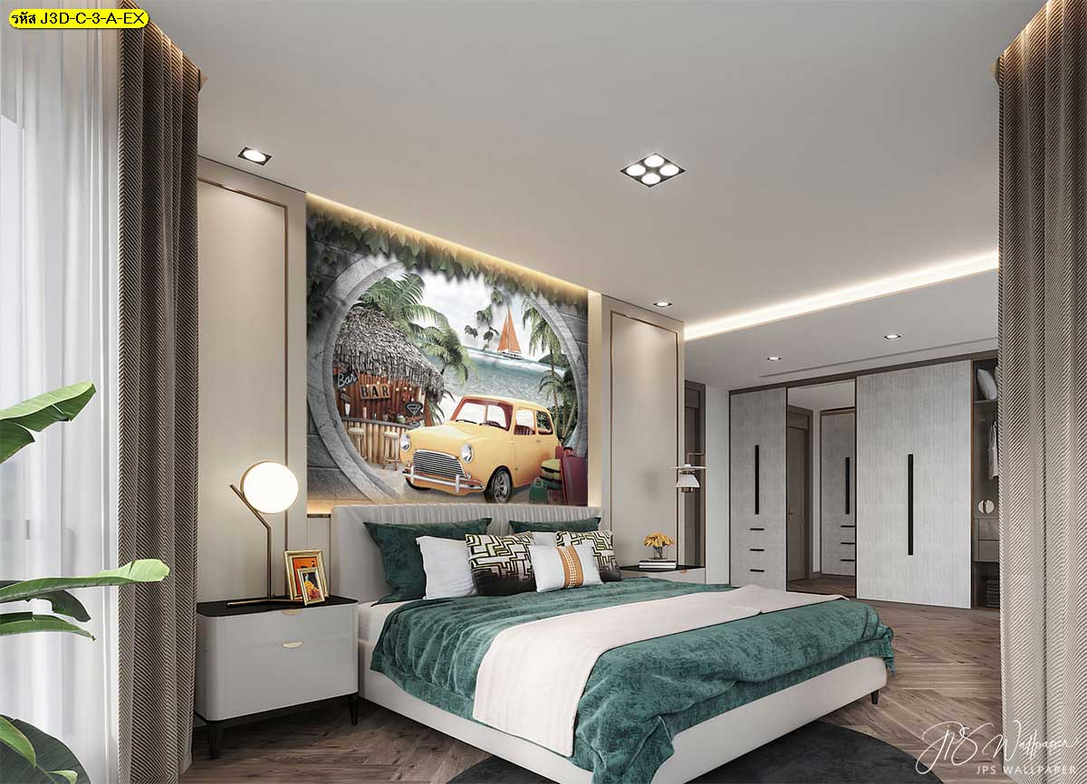 ติดภาพผ่อนคลายในห้องนอนเหมือนได้พักผ่อนชิวๆ ริมทะเล วอลเปเปอร์วันพักผ่อน วอลเปเปอร์ริมทะเล