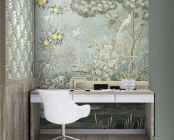 ไอเดียแต่งมุมส่วนตัวในบ้านสวยๆ ท่ามกลางธรรมชาติ วอลเปเปอร์กำแพงในสวนป่าธรรมชาติ