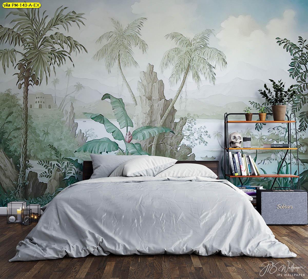ภายในห้องนอนติดรูปภาพธรรมชาติ เติมเต็มบรรยากาศแห่งการพักผ่อน