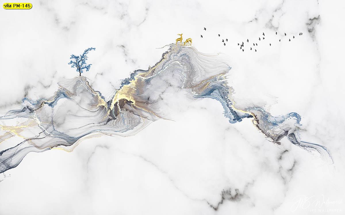 วอลเปเปอร์หินอ่อนสีขาวเทาวิวภูเขา วอลเปเปอร์ลายหินอ่อน หินอ่อนสีขาว