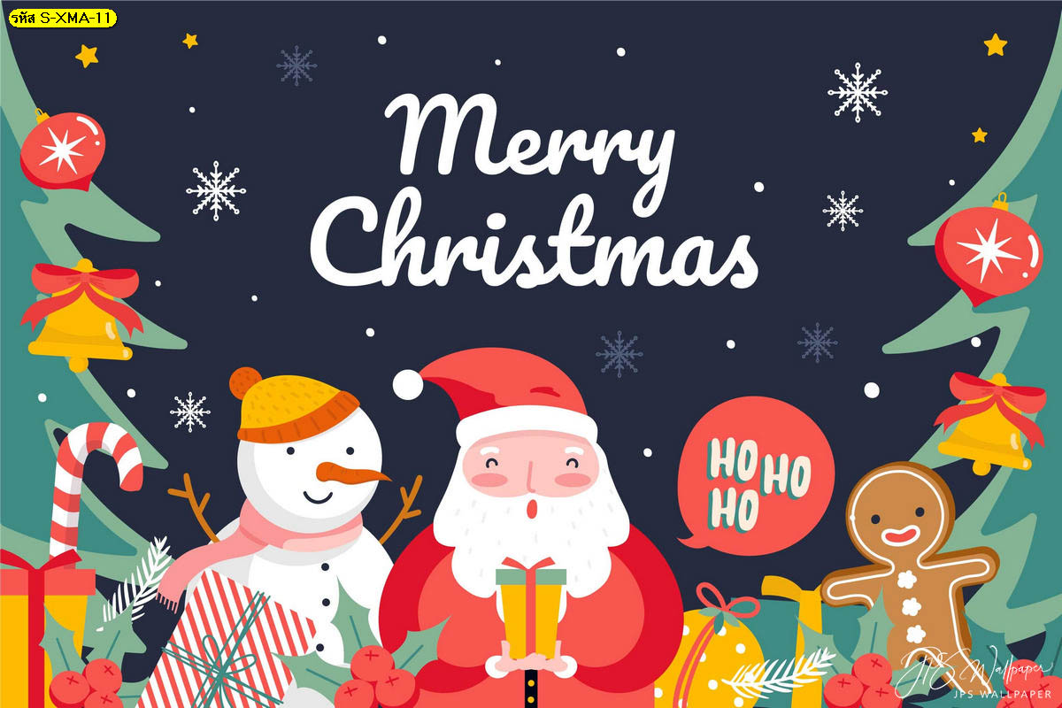 วอลเปเปอร์ซานตาคลอสและของขวัญวันคริสต์มาส ภาพซานตาคลอส ตกแต่งคริสต์มาส