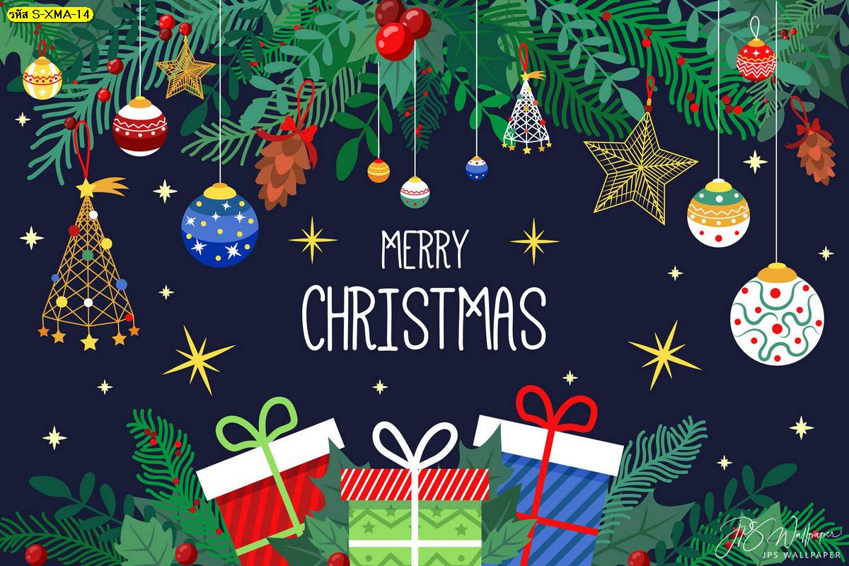 วอลเปเปอร์ปาร์ตี้เมอรี่คริสต์มาส กล่องของขวัญ พื้นหลังคริสต์มาส