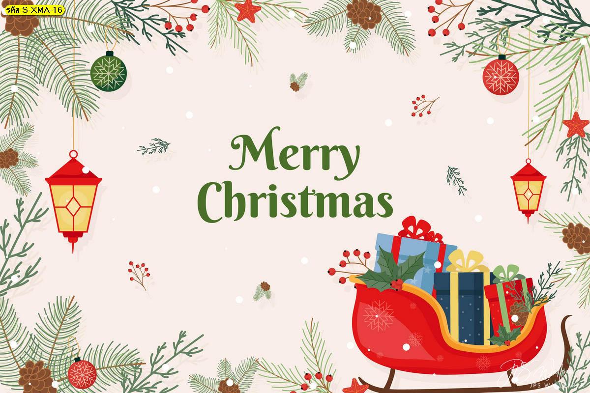 วอลเปเปอร์รถเลื่อนซานตาคลอสหิมะโปรยปราย พื้นหลังคริสต์มาส รูปวันคริสต์มาส