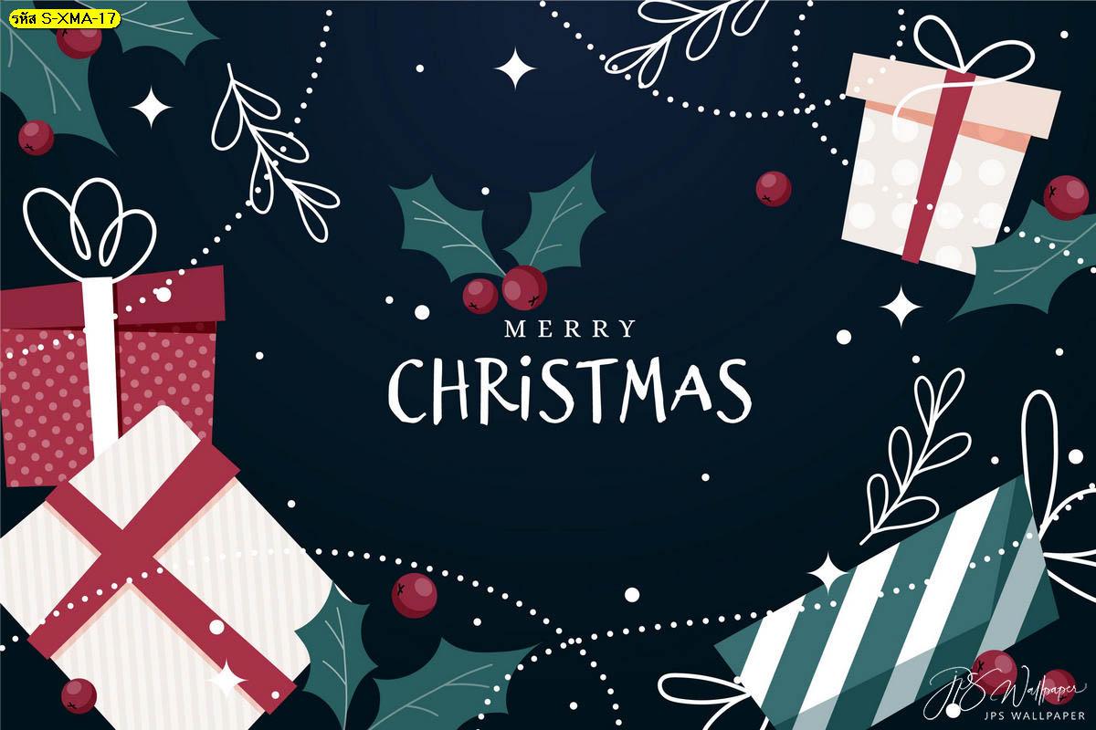 วอลเปเปอร์กล่องของขวัญเชอร์รี่แดง ต้อนรับเทศกาลคริสต์มาส ฉากหลังวันคริสต์มาส