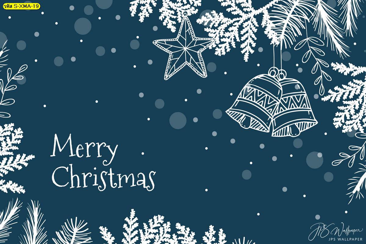 วอลเปเปอร์หิมะตกติดฉากหลังวันคริสต์มาสพื้นหลังสีฟ้า