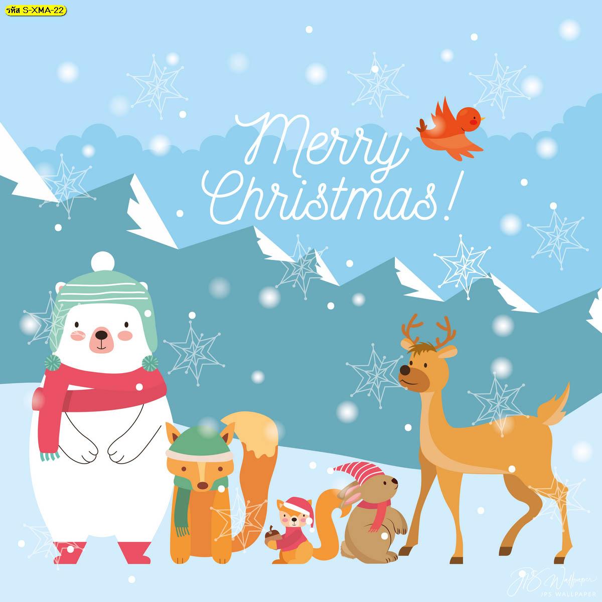 หมีขั้วโลกและผองเพื่อนในวันคริสต์มาส หมีขั้วโลก แต่งบ้านรับเทศกาลคริสต์มาส