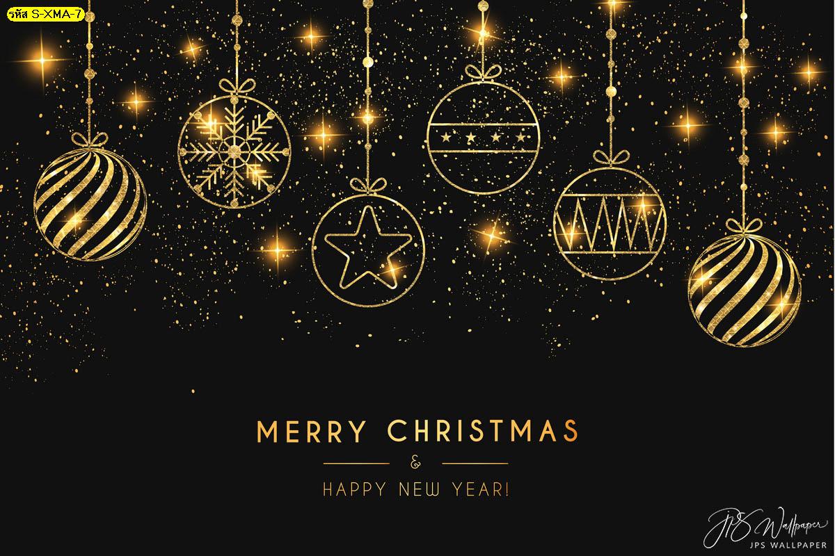 วอลเปเปอร์ลูกบอลคริสต์มาสสีทอง ฉากหลังวันคริสต์มาส รูปวันคริสต์มาส