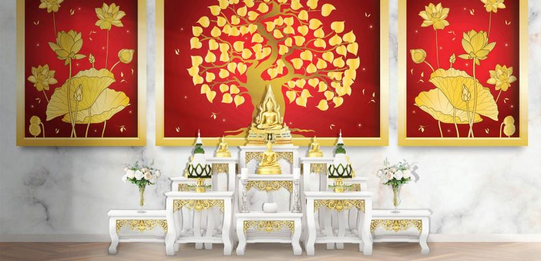 ไอเดียตกแต่งห้องพระลายไทยในบ้านสวยๆ