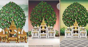 หน้าปกต้นโพธิ์เขียว ต้นโพธิ์ติดหลังพระพุทธรูป2