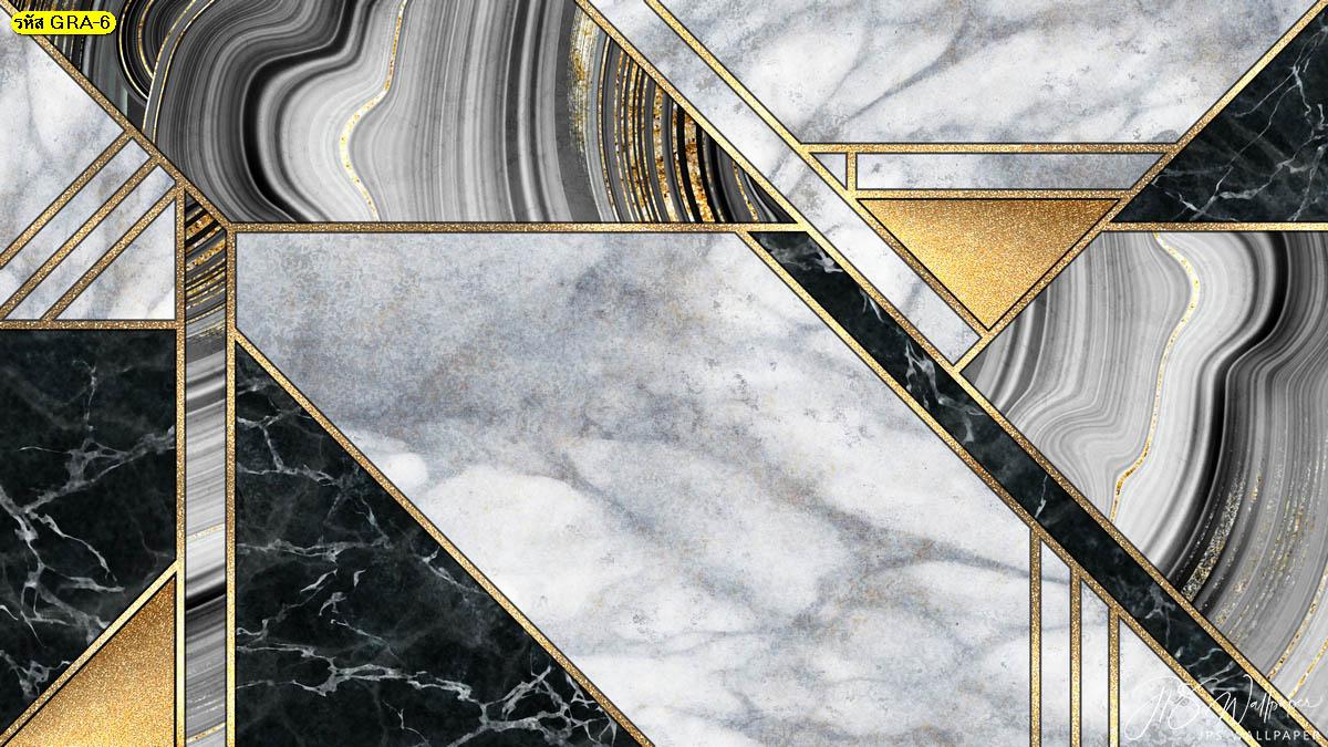 วอลเปเปอร์ลายหินอ่อนตัดเส้นสีทอง พื้นหลังหินอ่อน ภาพสั่งพิมพ์ลายกราฟิก