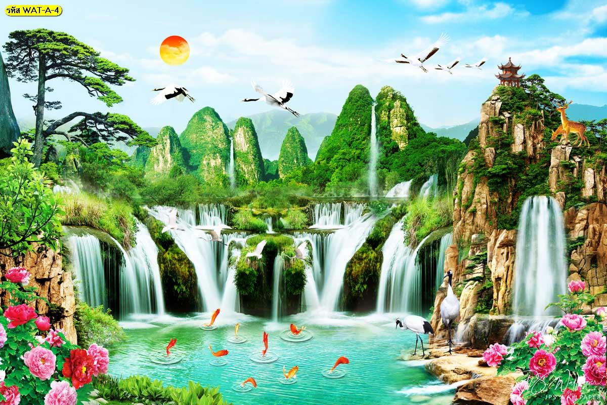 วอลเปเปอร์ลายน้ำตกจีน วอลเปเปอร์น้ำตกจีน น้ำตกฮวงจุ้ย