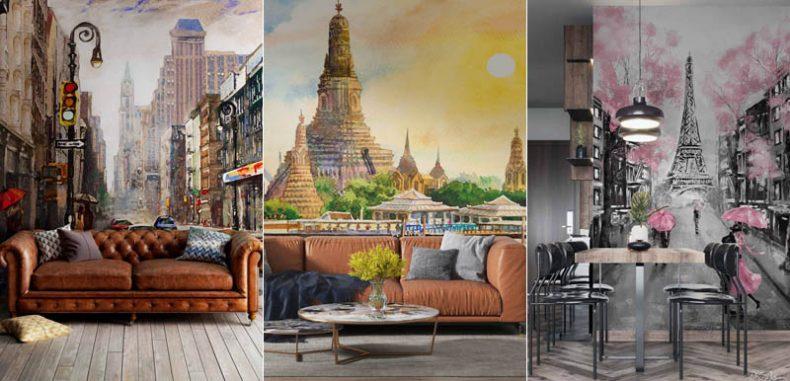 วอลเปเปอร์สั่งทำภาพวาดศิลปะสวยๆ แต่งบ้านน่าอยู่ มีสไตล์