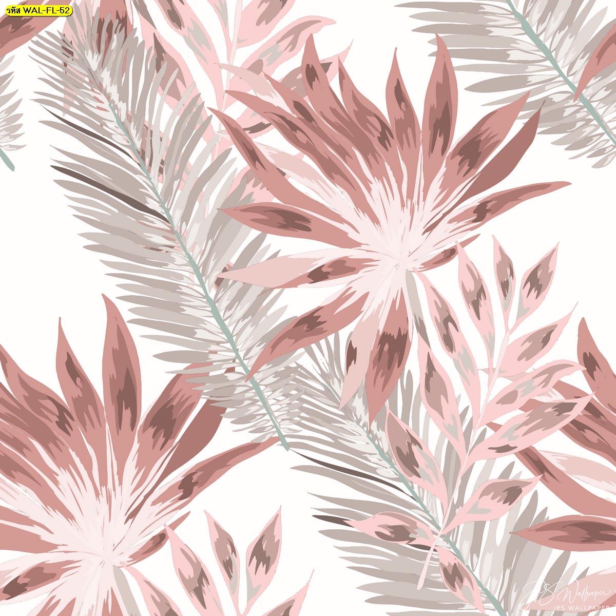 วอลเปเปอร์ลายใบไม้และขนนกพื้นหลังสีขาว ภาพสั่งพิมพ์ลายขนนกสวยๆ